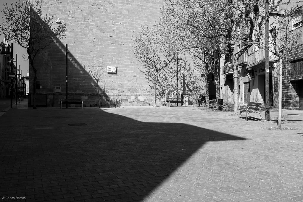 Plaça Pius XII d'Igualada el 15/03/2020