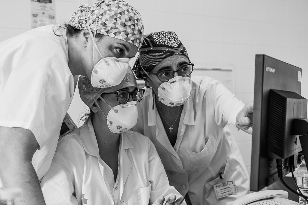 La Dra. Moriana i el seu equip continuen treballant des del CAP Igualada Centre per atendre els seus pacients tant en el centre com en atenció domiciliària - 22/04/2020.