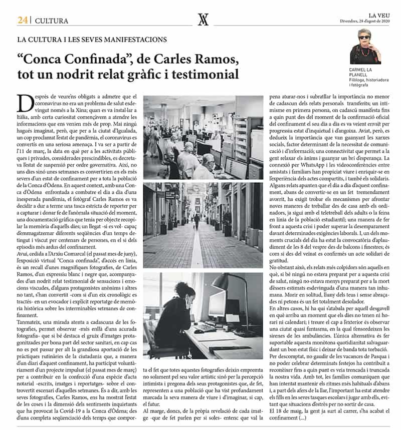 200828 - LaVeu - Conca Confinada, de Carles Ramos. Carmel·la Planell@0,5x