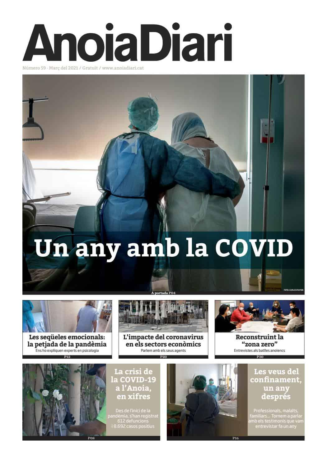 210313 - Anoiadiari - 1de4 - Una any amb la COVID_portada