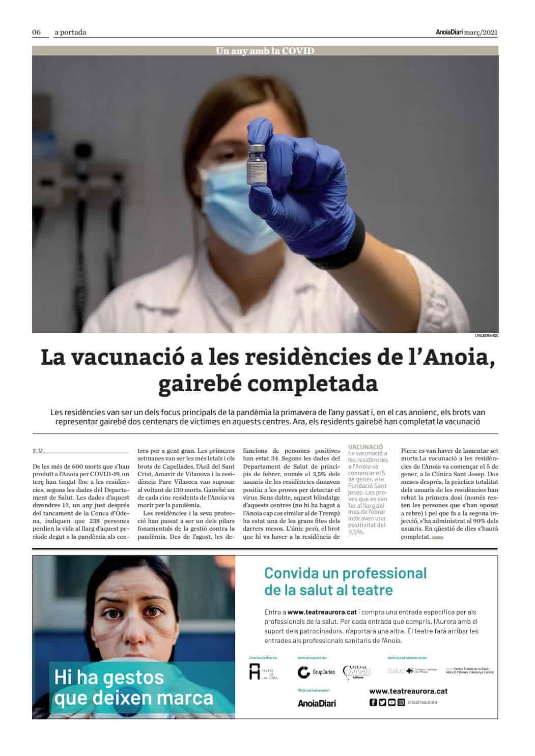 210313 - Anoiadiari - 4de4 - La vacunació a les residències gairabe completada